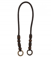 Braided Long Handles Color Brown