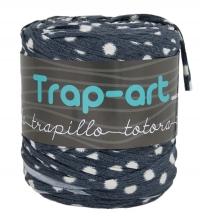 Tonos Grises con Topos Blancos Lycra Fabric Yarn