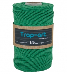 1,5mm Verde Césped Cotton Rope