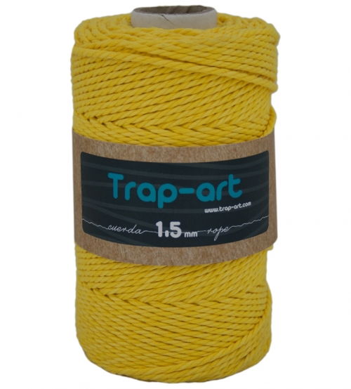 1,5 mm Amarillo Cotton Rope