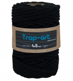 4,5 mm Negro Cotton Rope