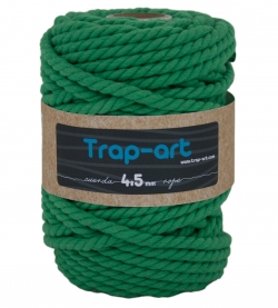 4,5 mm Verde césped Cotton Rope
