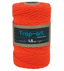 1,5 mm Naranja Fluor Cotton Rope