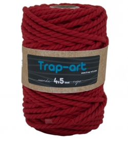 4,5 mm Rojo Cotton Rope