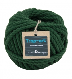 Verde Botella 6mm Cotton Rope