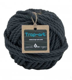 6mm Gris Cotton Rope