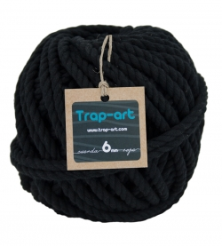 Negro 6mm Cotton Rope