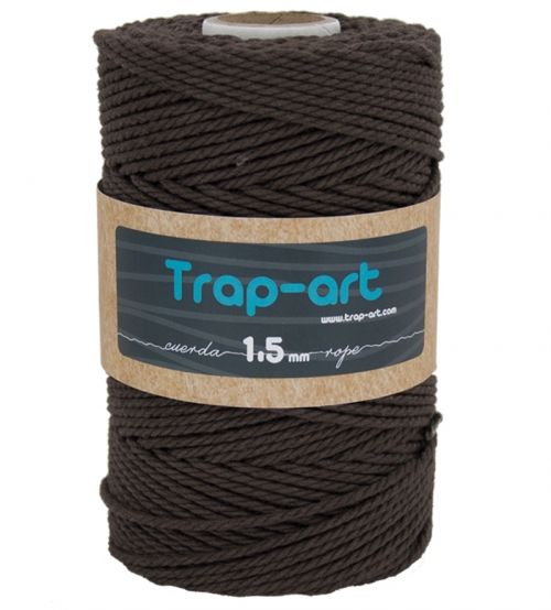 Chocolate 1,5 mm Cotton Rope