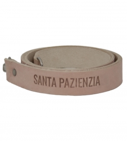 Long Leather Handle Color Natural by SANTA PAZIENZIA