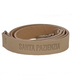 Long Leather Handle Color Piel by SANTA PAZIENZIA.